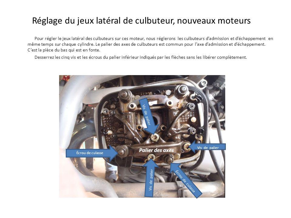 Réglage du jeux latéral de culbuteur, nouveaux moteurs Pour régler le jeux latéral des culbuteurs sur ces moteur, nous réglerons les culbuteurs dadmis