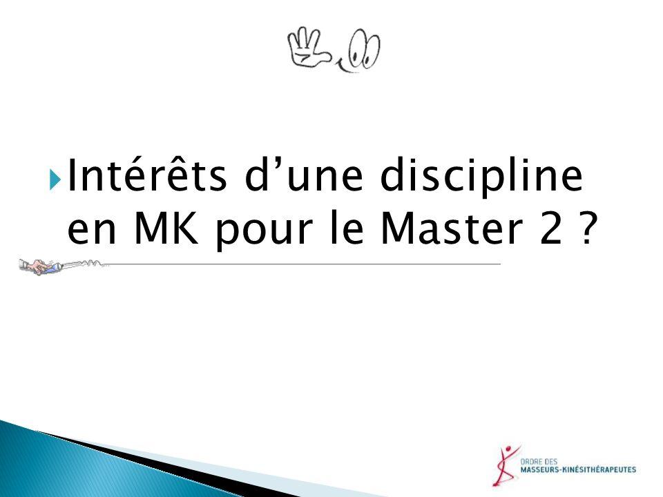 Intérêts dune discipline en MK pour le Master 2 ?
