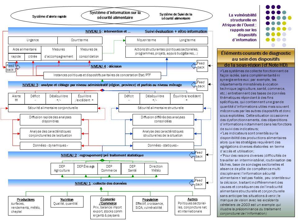 NIVEAU 5 : intervention et … La vulnérabilité structurelle en Afrique de lOuest : rappels sur les dispositifs dinformation Productions surfaces, rende