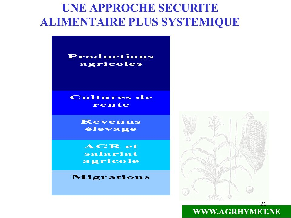 WWW.AGRHYMET.NE 21 UNE APPROCHE SECURITE ALIMENTAIRE PLUS SYSTEMIQUE