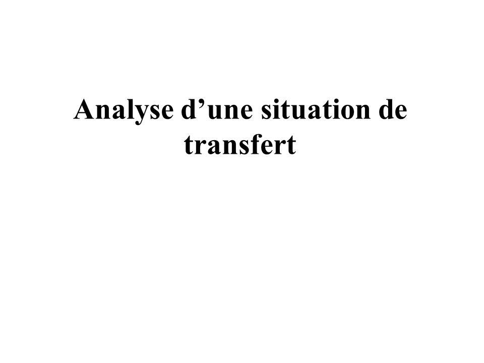 Analyse dune situation de transfert
