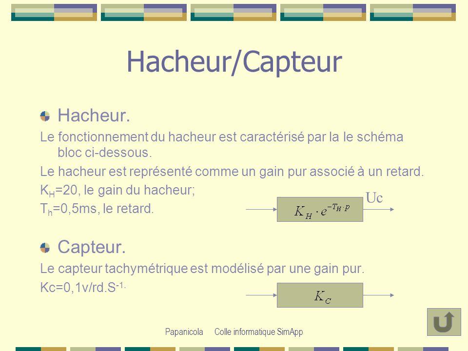 Papanicola Colle informatique SimApp Hacheur/Capteur Hacheur.