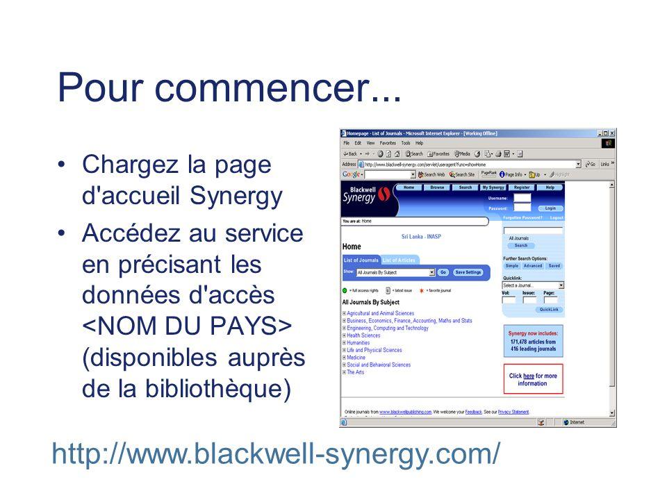 Page d accueil QuickLink permet de trouver immédiatement des numéros ou pages spécifiques.