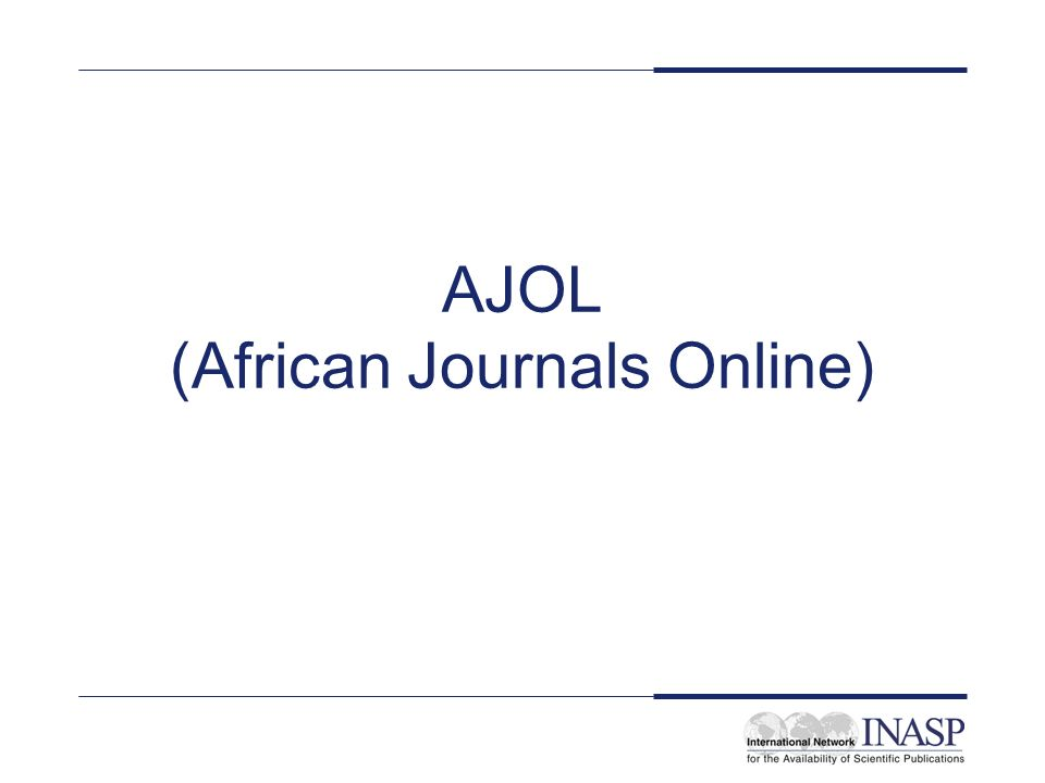 AJOL (African Journals Online)