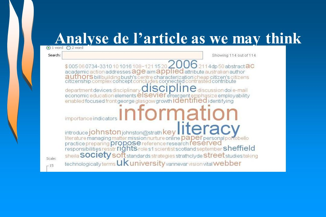 Analyse de larticle as we may think