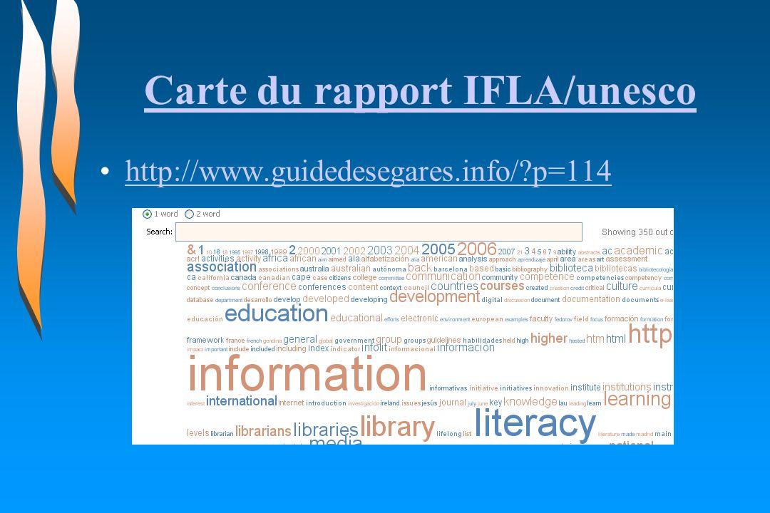 Carte du rapport IFLA/unesco http://www.guidedesegares.info/?p=114