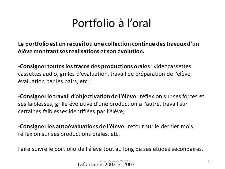 Le portfolio est un recueil ou une collection continue des travaux dun élève montrant ses réalisations et son évolution. -Consigner toutes les traces