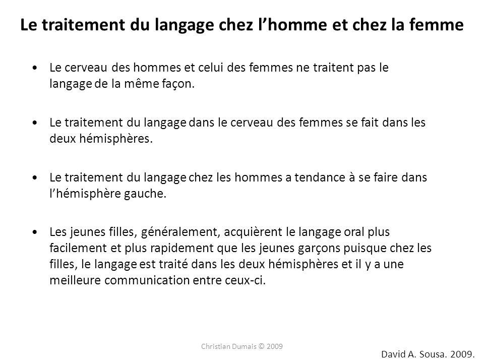 Le cerveau des hommes et celui des femmes ne traitent pas le langage de la même façon.