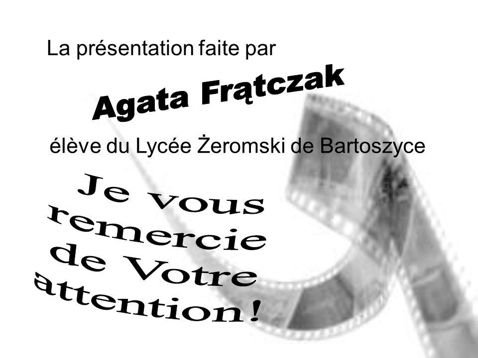 La présentation faite par élève du Lycée Żeromski de Bartoszyce