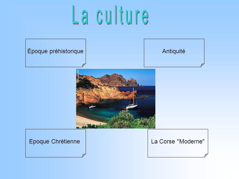 Époque préhistorique Antiquité Epoque Chrétienne La Corse