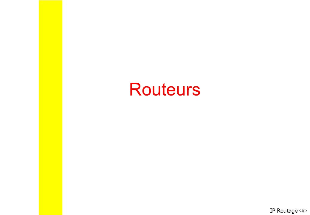 IP Routage 30 Routeurs