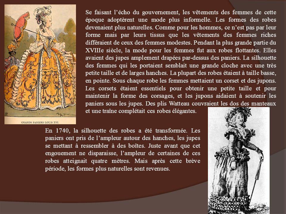 Se faisant lécho du gouvernement, les vêtements des femmes de cette époque adoptèrent une mode plus informelle. Les formes des robes devenaient plus n