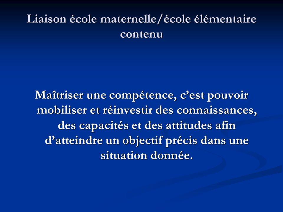Liaison école maternelle/école élémentaire contenu Évaluer… => Cest : - donner une valeur graduée (8/20, 13/20, en cours dacquisition / acquis /expert...).