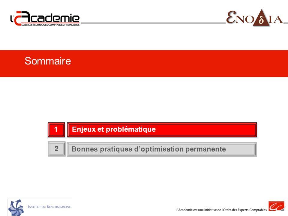 2 Bonnes pratiques doptimisation permanente 1 1 Enjeux et problématique Sommaire
