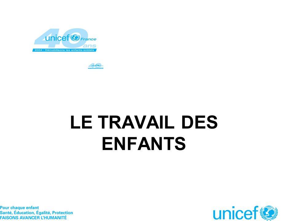 LE TRAVAIL DES ENFANTS