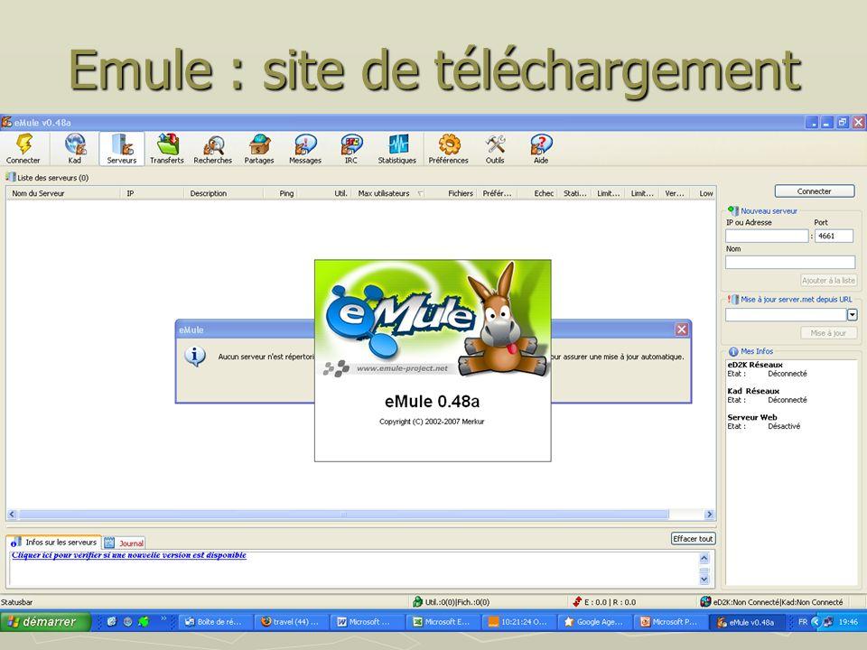 Emule : site de téléchargement