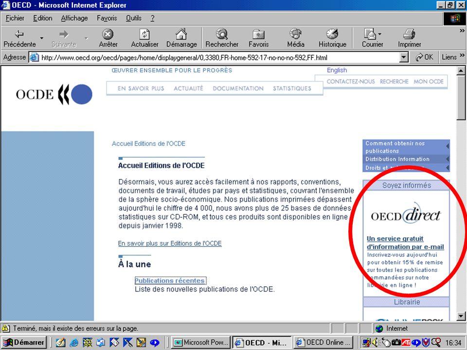 CREPUQ - Présentation de SourceOECD - 15 novembre 2001 13