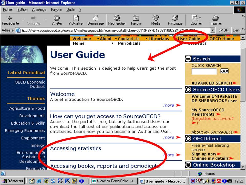 CREPUQ - Présentation de SourceOECD - 15 novembre 2001 30