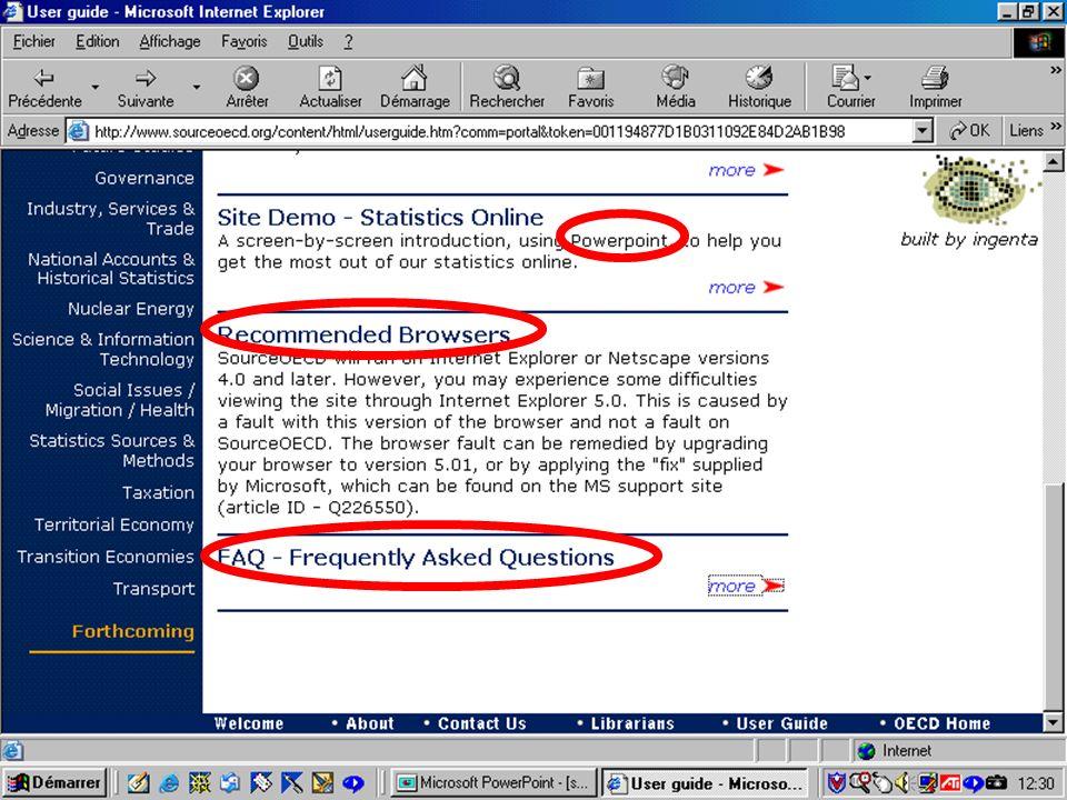 CREPUQ - Présentation de SourceOECD - 15 novembre 2001 33
