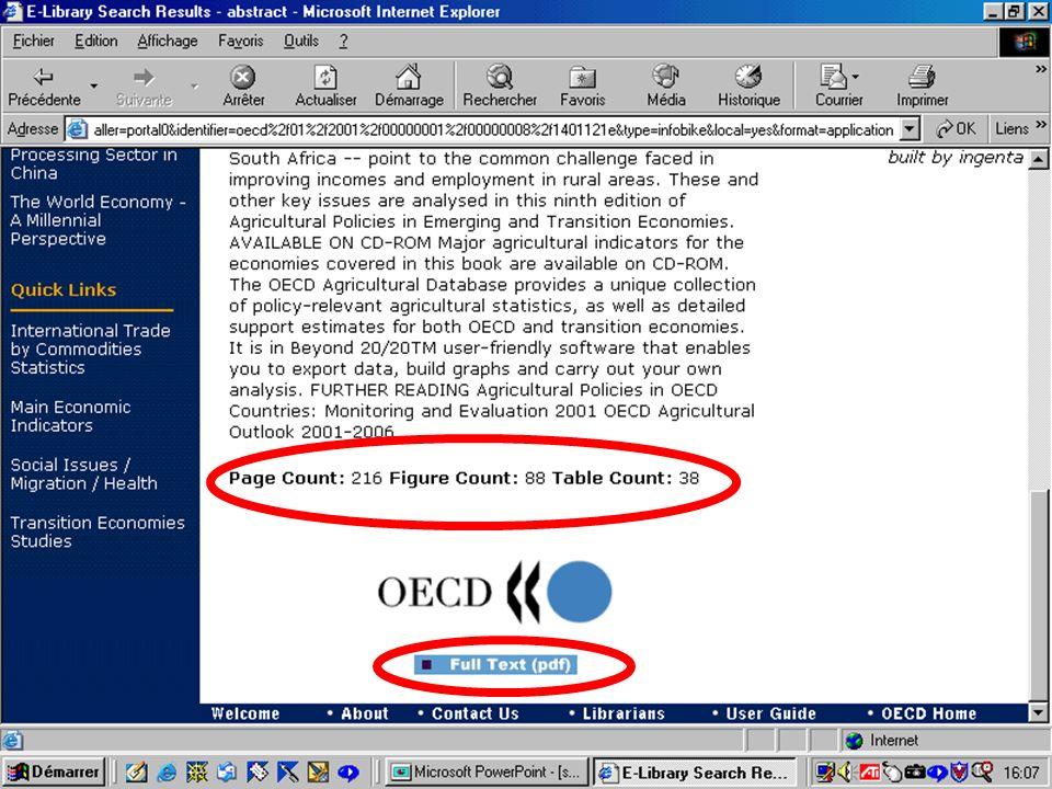 CREPUQ - Présentation de SourceOECD - 15 novembre 2001 38