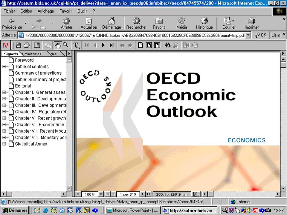 CREPUQ - Présentation de SourceOECD - 15 novembre 2001 71
