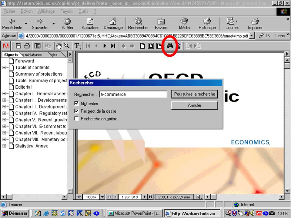 CREPUQ - Présentation de SourceOECD - 15 novembre 2001 75