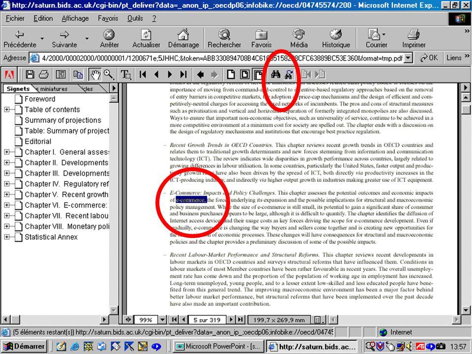 CREPUQ - Présentation de SourceOECD - 15 novembre 2001 76