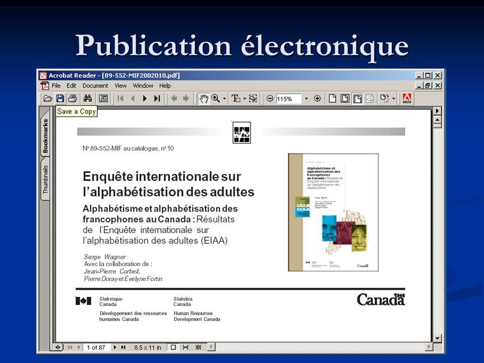 Publication électronique
