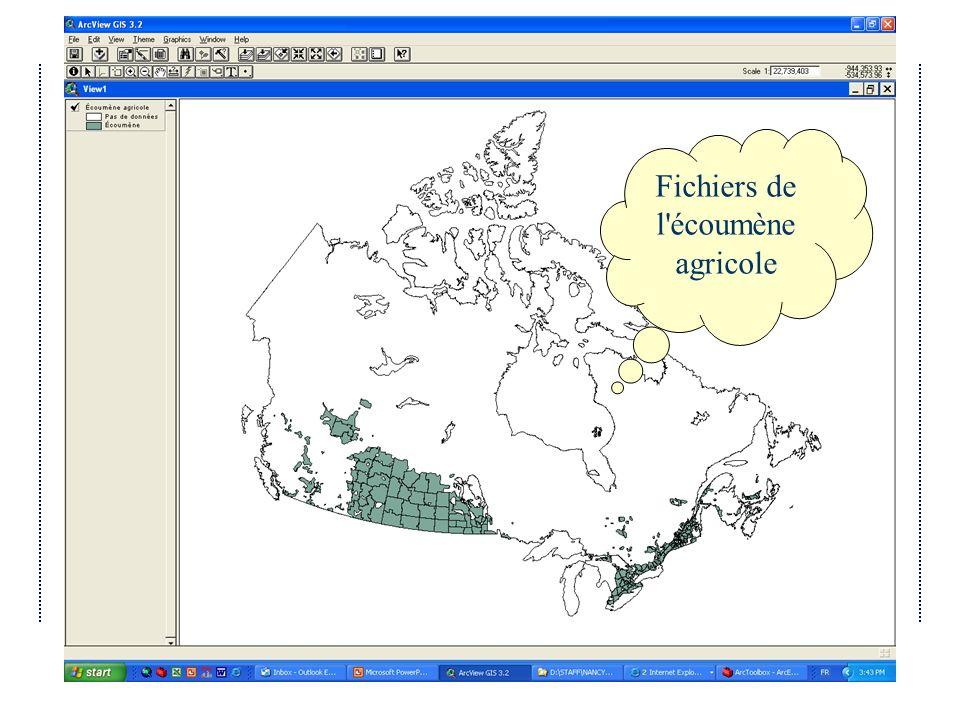 Avril 2004Atelier IDD 2004 du Québec Fichiers de l écoumène agricole