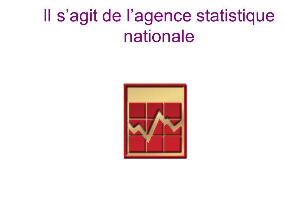 Il sagit de lagence statistique nationale