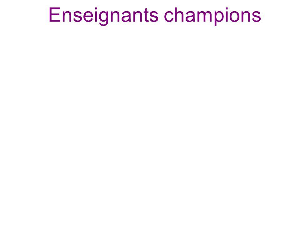 Enseignants champions