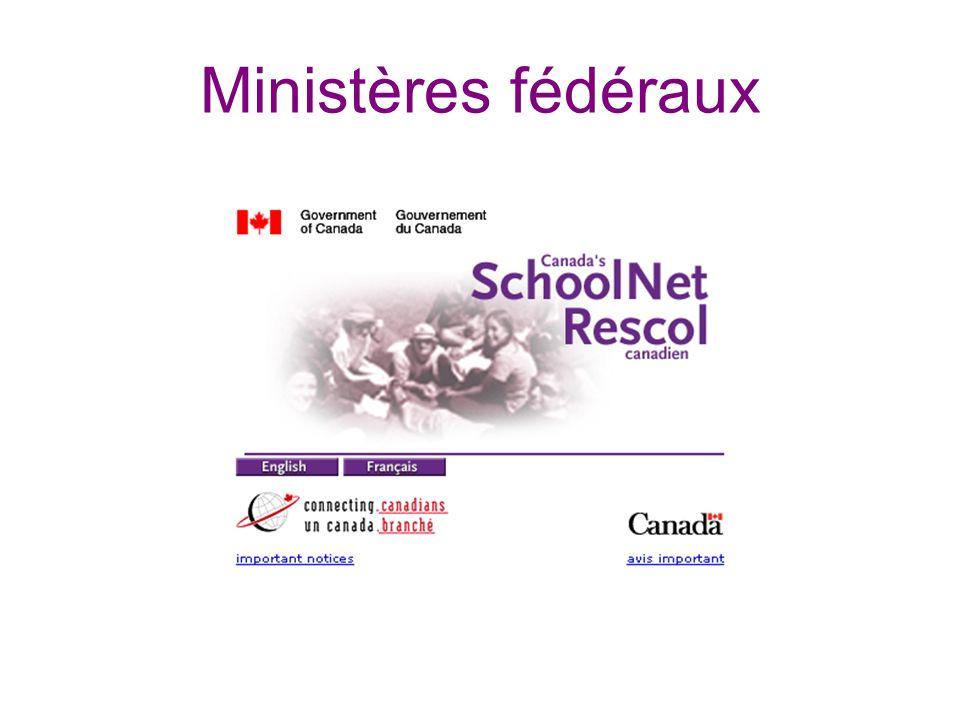 Ministères fédéraux