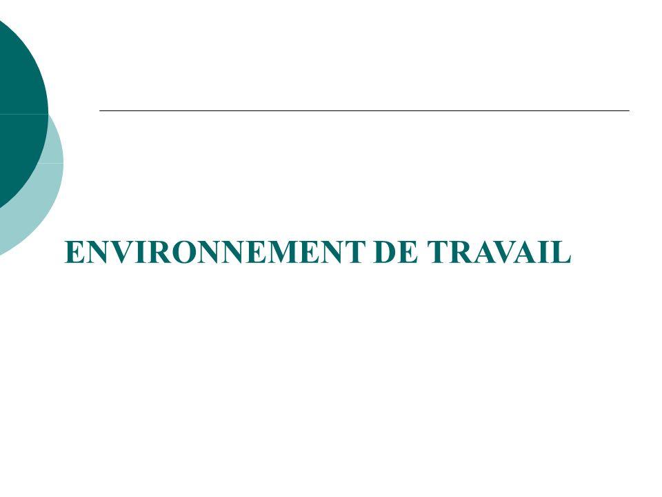 ENVIRONNEMENT DE TRAVAIL