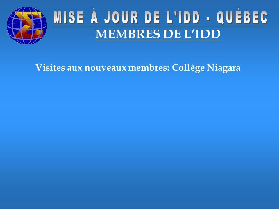 Visites aux nouveaux membres: Collège Niagara