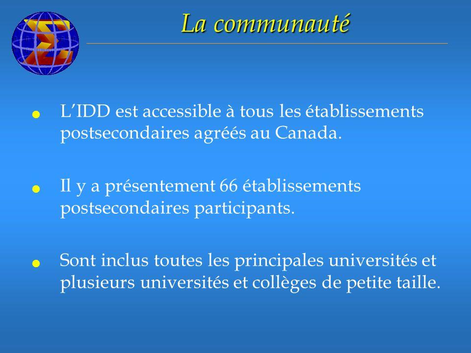 LIDD est accessible à tous les établissements postsecondaires agréés au Canada.