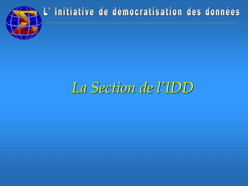 La Section de lIDD