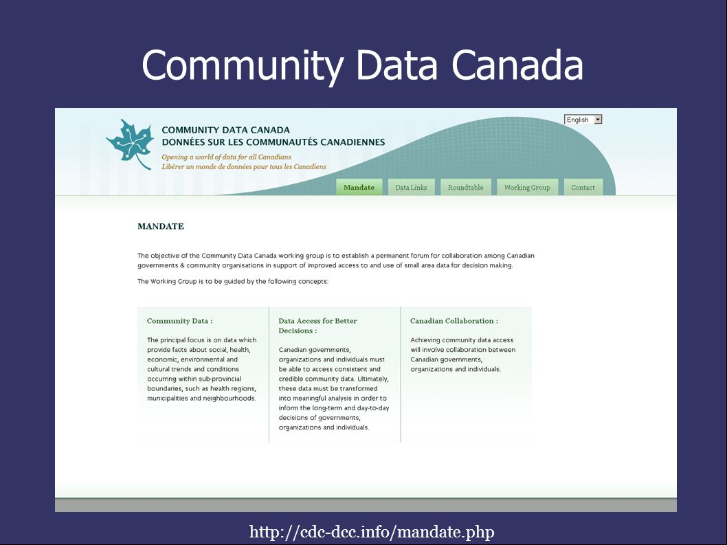 Community Data Canada http://cdc-dcc.info/mandate.php