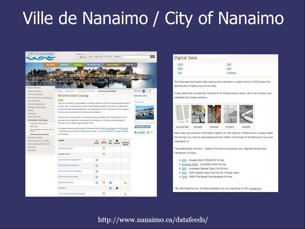 Ville de Nanaimo / City of Nanaimo http://www.nanaimo.ca/datafeeds/