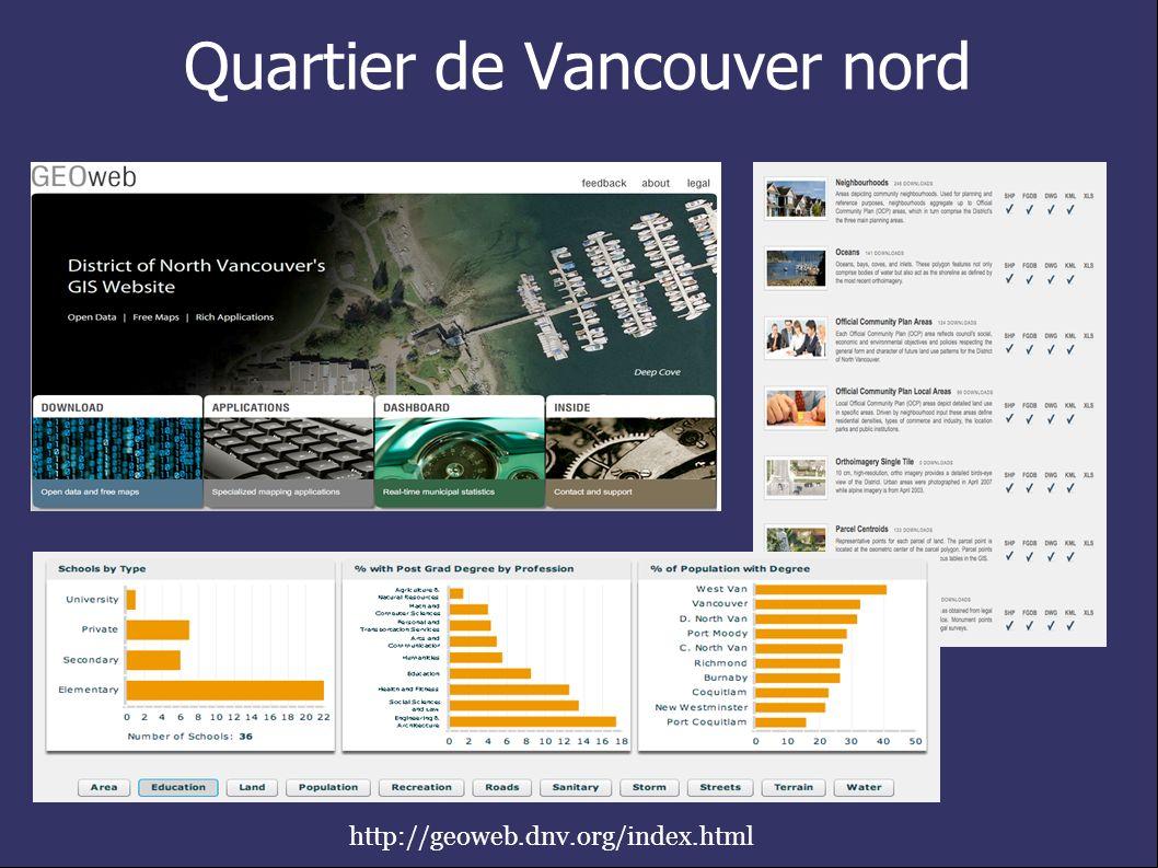 Quartier de Vancouver nord http://geoweb.dnv.org/index.html