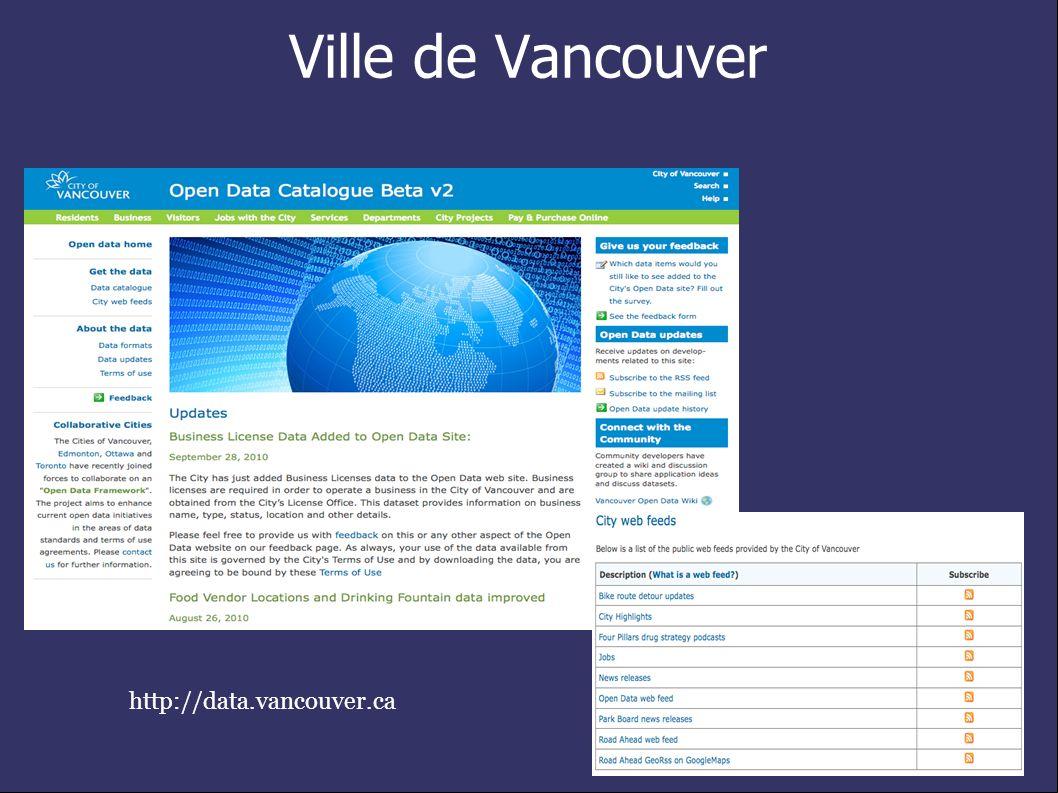 Ville de Vancouver http://data.vancouver.ca