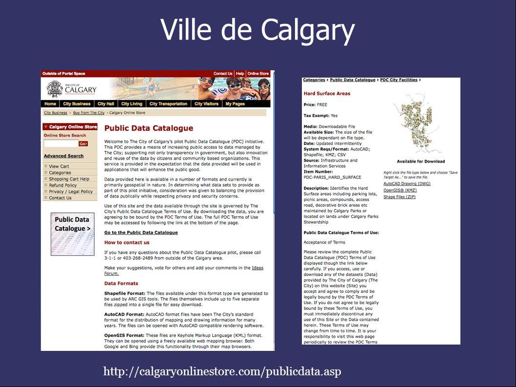 Ville de Calgary http://calgaryonlinestore.com/publicdata.asp