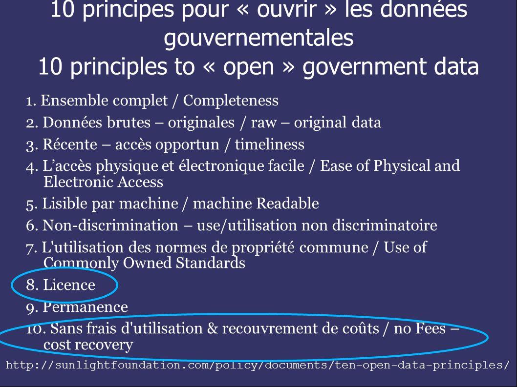 Ville d Ottawa http://www.ottawa.ca/onlinehttp://www.ottawa.ca/online_ services/opendata/index_en.html http://www.opendataottawa.ca/ Gouvernement Citoyens http://traceyplauriault.ca/ 010/07/21/changecamp-ottawa-2010- open-data-terms-of-use-session/