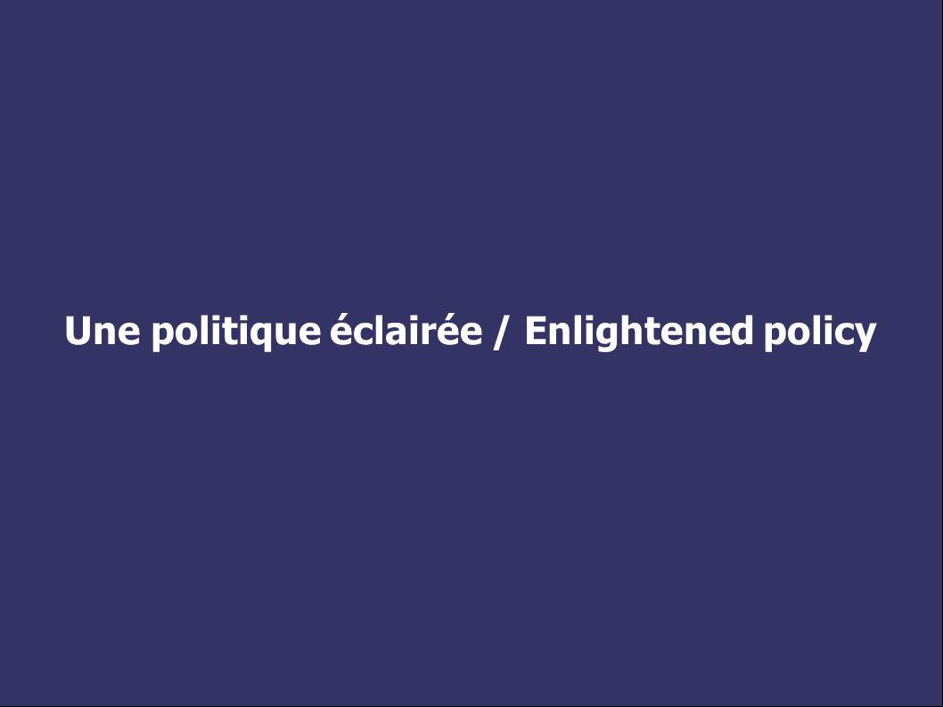 Une politique éclairée / Enlightened policy