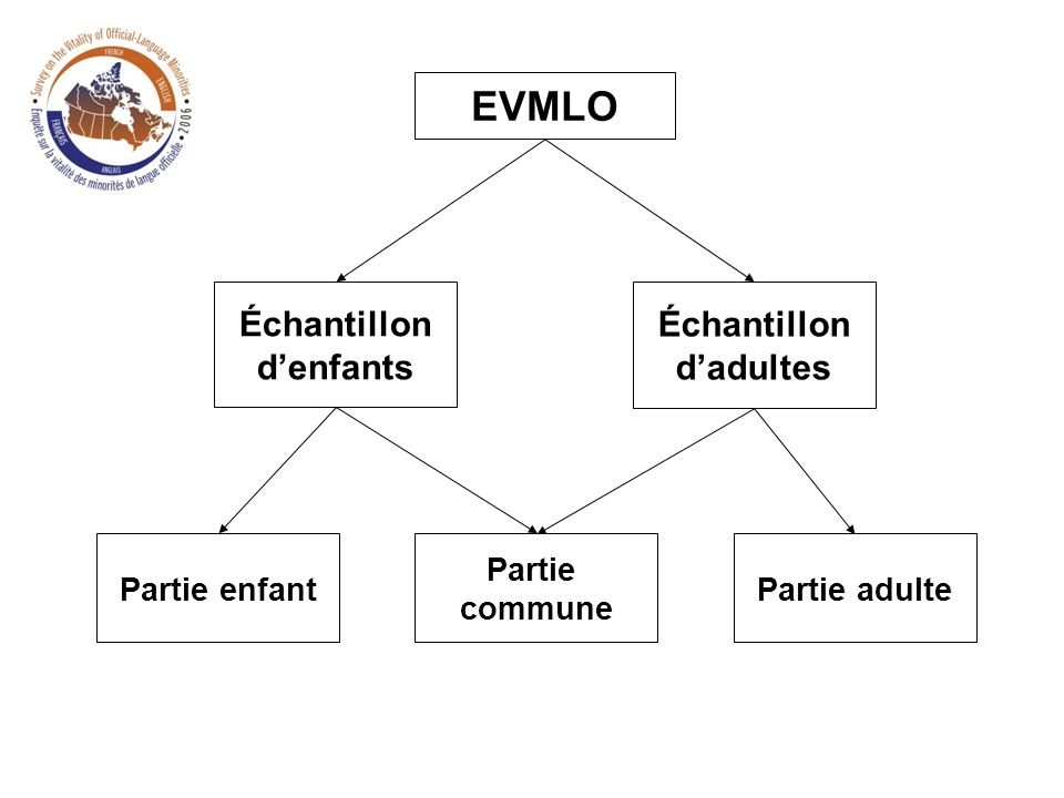 Partie enfant EVMLO Échantillon denfants Partie commune Partie adulte Échantillon dadultes