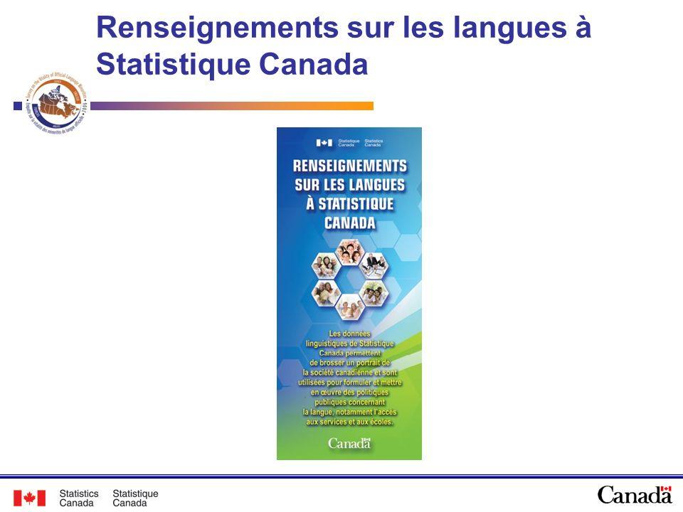 Renseignements sur les langues à Statistique Canada