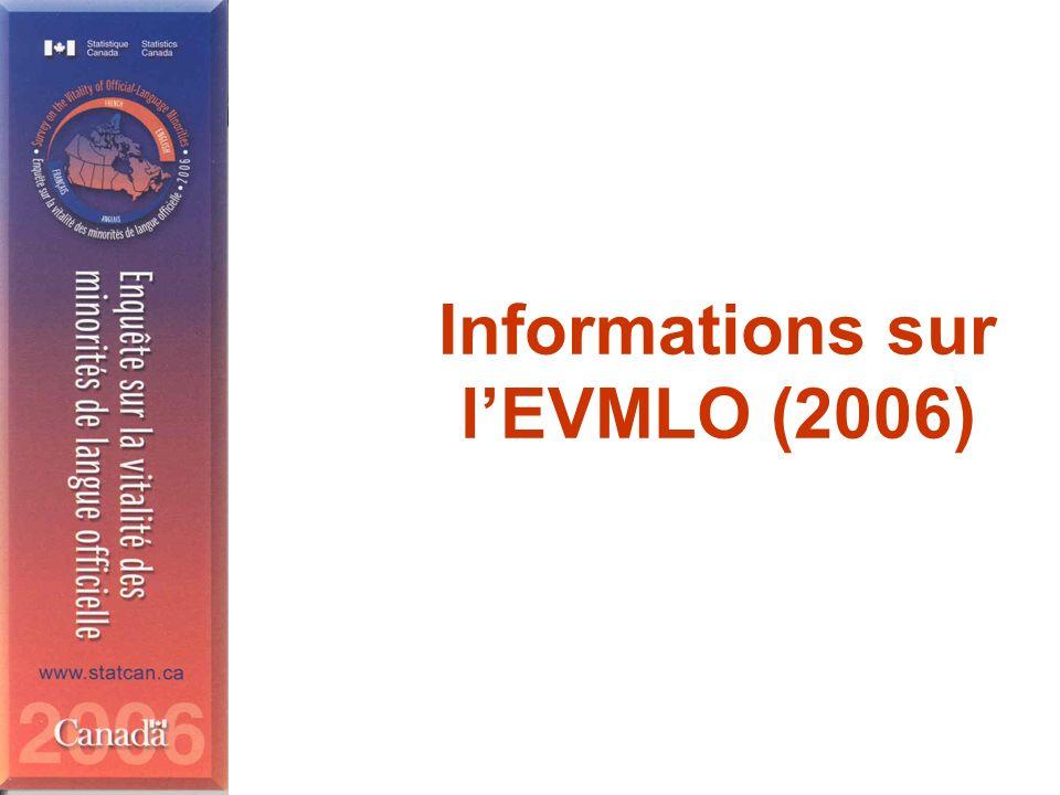 Informations sur lEVMLO (2006)