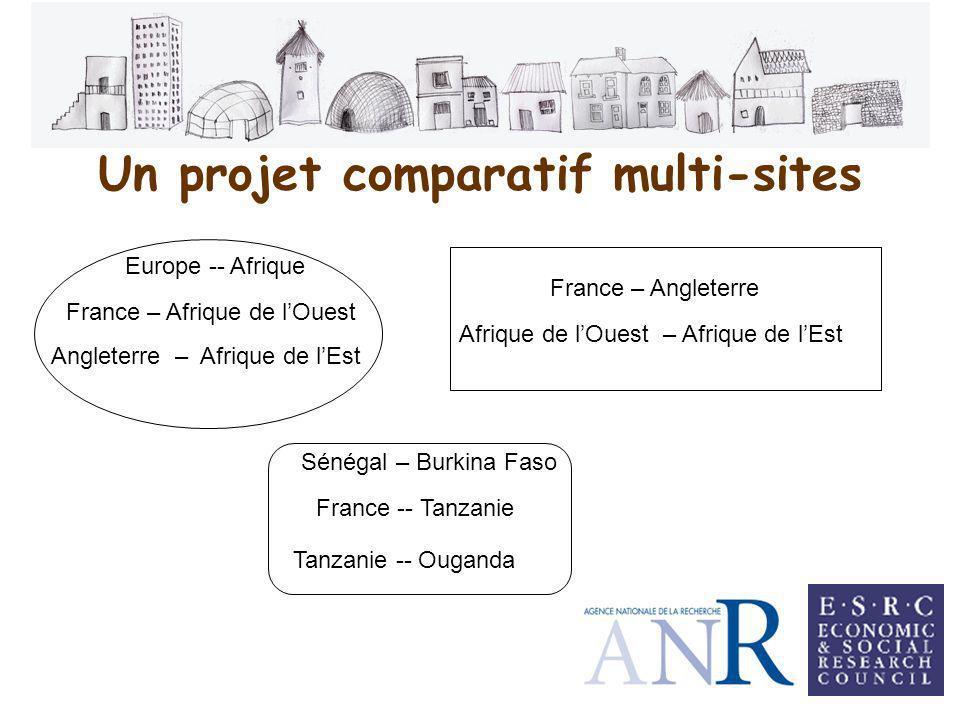 Un projet comparatif multi-sites Europe -- Afrique France – Afrique de lOuest Angleterre – Afrique de lEst Afrique de lOuest – Afrique de lEst France – Angleterre Sénégal – Burkina Faso France -- Tanzanie Tanzanie -- Ouganda