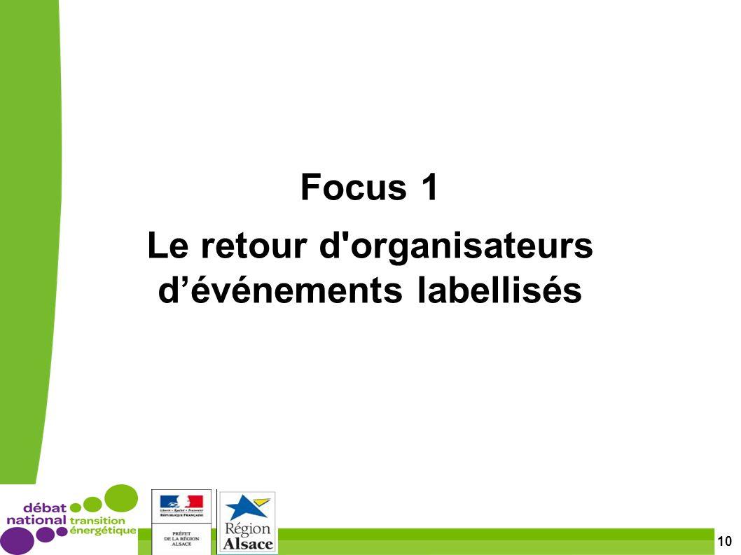 10 Focus 1 Le retour d organisateurs dévénements labellisés