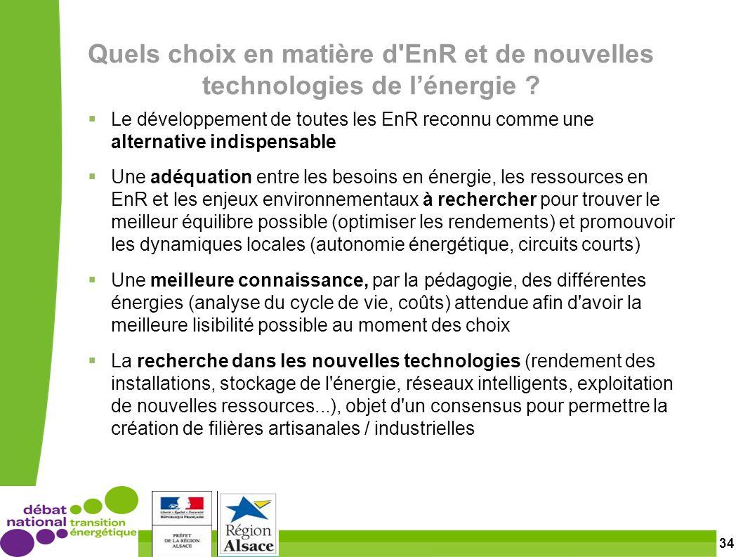 34 Quels choix en matière d EnR et de nouvelles technologies de lénergie .