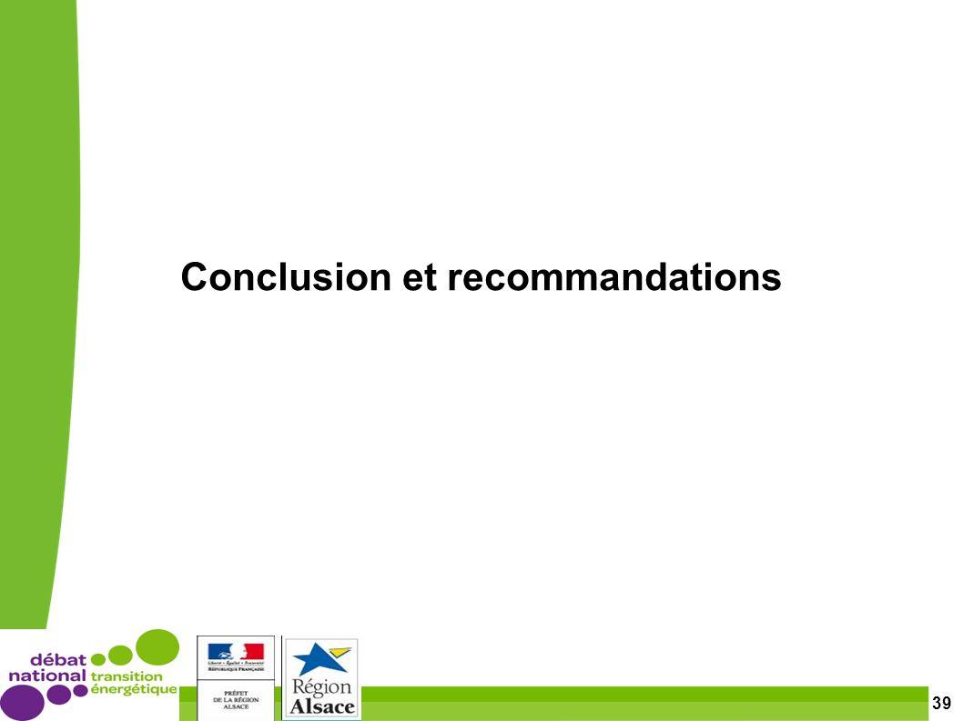 39 Conclusion et recommandations